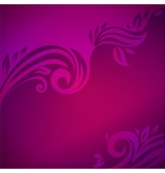 Abstract floral background with leaves vector image vector image