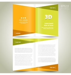brochure design template - booklet flat geometric vector image vector image