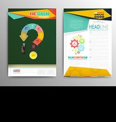 brochure template design business concept vector image vector image