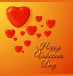 decorative romantic poster vector image