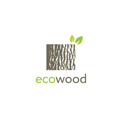 eco wood creative oak bark texture sign vector image