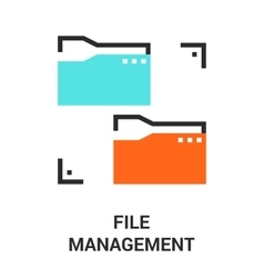 file management icon vector image vector image