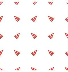 Geometric minimalistic orange pizza piece vector