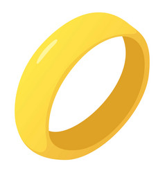 Golden ring icon cartoon style vector