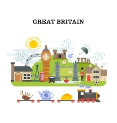 Great britain and london traveling concept vector image vector image