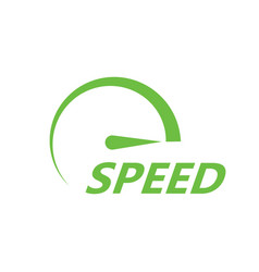 green speed icon vector image vector image