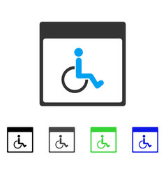Handicapped calendar page flat icon vector