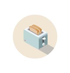 isometric toaster kitchen equipment icon vector image