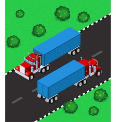 Isometric truck vector
