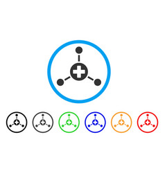 Medical center rounded icon vector