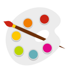 palette icon isolated vector image