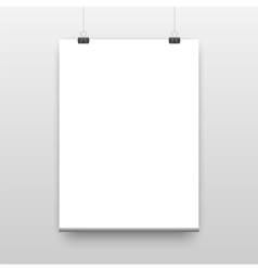 Poster template of a paper sheet vector