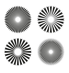rays beams element sunburst starburst shape vector image