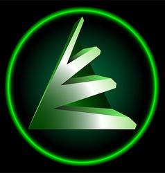 techno logo vector image vector image