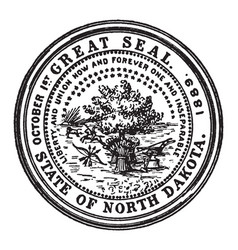 the great seal of the state of north dakota vector image