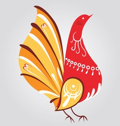 traditional Russian style bird vector image vector image