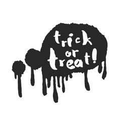 Trick or treat in a speech bubble vector