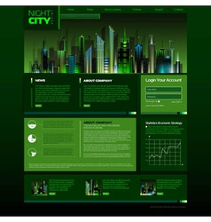 Web site design night city vector