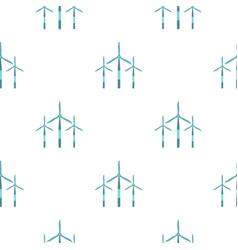 Wind turbine pattern seamless vector