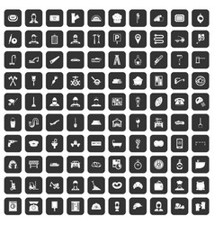 100 working professions icons set black vector