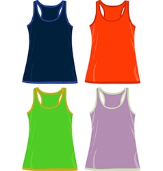 Sleeveless tops and tank tops vector