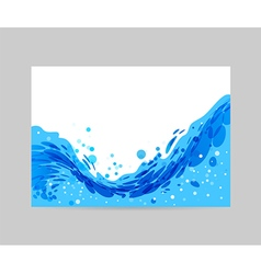 Wave background brochure design vector
