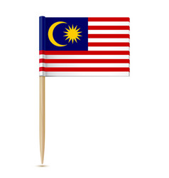 Flag of malaysia toothpick vector