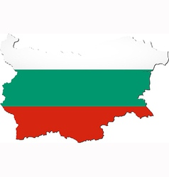 Map of bulgaria with national flag vector