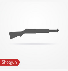hunter rifle silhouette icon vector image