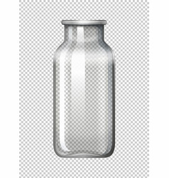 Glass bottle on transparent background vector