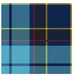 American blue tartan cloth pattern vector