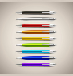 Set of colorful pens vector