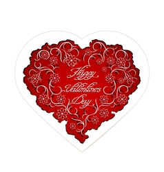 Floral heart with handwritten inscription vector