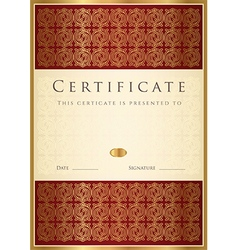 Certificate diploma of completion vector