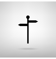 Direction road sign vector