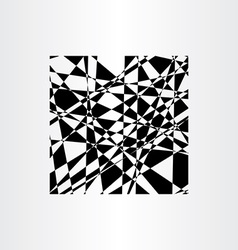 Abstract background polygon black geometric vector