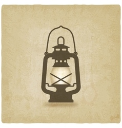 Oil lantern old background vector