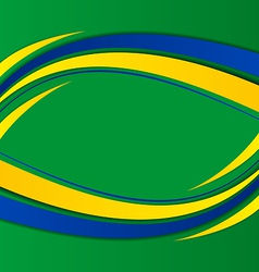 Abstract background in brazil flag concept vector