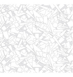 abstract geometric form seamless pattern chaotic vector image vector image