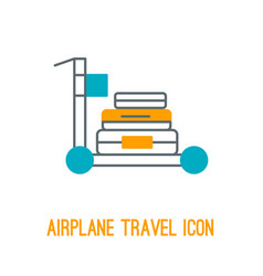 Airplane travel icon vector