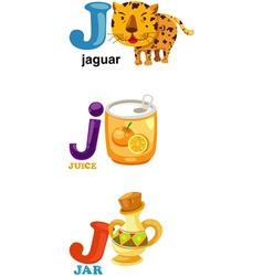 Alphabet letter - j vector