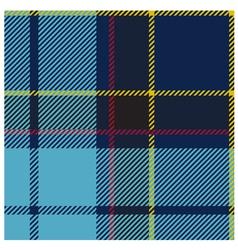 American Blue Tartan Cloth Pattern vector image vector image