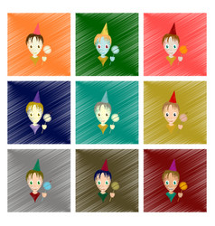 assembly flat shading style icon child sparkler vector image vector image