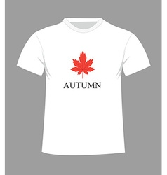 autumn t-shirt vector image vector image