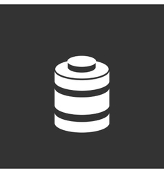 Battery icon isolated on a black background vector