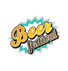 Beer festival october drink alcohol brewery party vector image