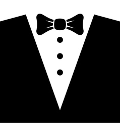 Black Tuxedo with Bow Tie vector image vector image