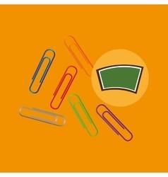 Blackboard school icon clips color vector