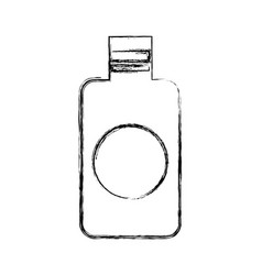 Bottle plastic isolated icon vector