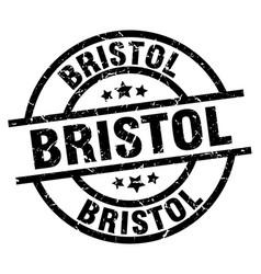 bristol black round grunge stamp vector image vector image